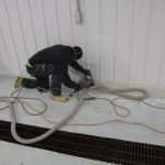 Concrete flooring repair in New Jersey processing facility