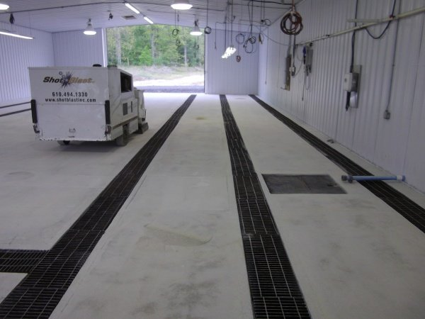New Jersey concrete repair in progress
