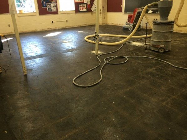 Carpet tile mastic removal pennsylvania concrete for How to remove cutback adhesive from concrete floor