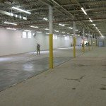 before getting started polishing a warehouse floor