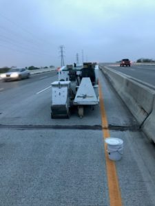 shot blast repairs a road in Wilmington DE