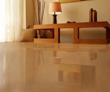 Living Room concrete polishing in MD