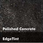 Midnight Black Concrete Floor