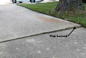 Sidewalk Trip Hazard