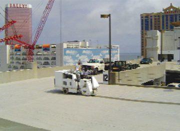 parking lot membrane removal