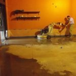 Concrete Floor Repair In Process