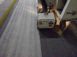 Parking deck membrane removal process