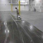 on the job polishing a concrete floor
