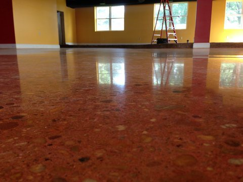 After PA concrete polishing