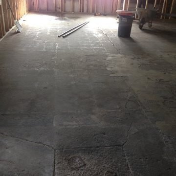 Floor before treatment