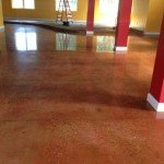 concrete floor after diamond grinding and polishing