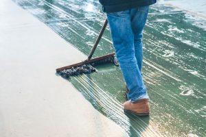 concrete floor stain