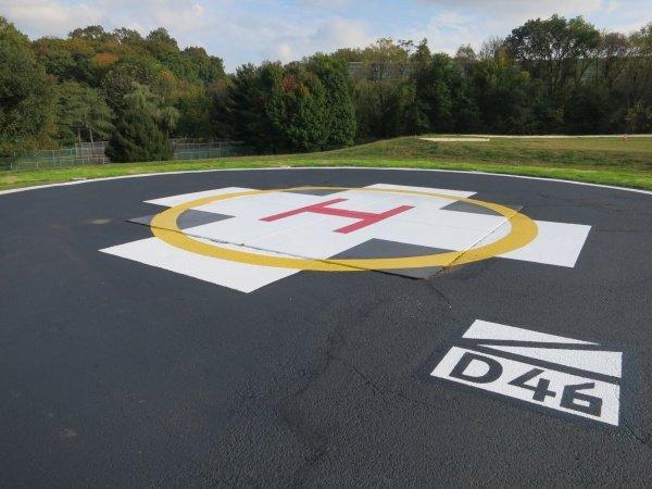 Helicopter Landing Pad Restoration Shot Blast Inc
